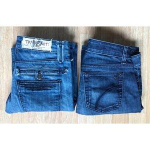 LOT OF 2 Joe's Starlet & Travernity Janis 18 Jeans